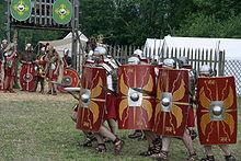 Legione di fanteria romana all'attacco