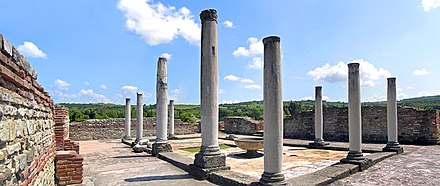 Remnants of the Felix Romuliana Imperial Palace, a UNESCO World Heritage Site; as many as 18 Roman emperors were born in modern-day Serbia Romuliana.jpg