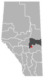 Location of Rosalind, Alberta