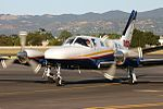 Rossair Charter Cessna 441 Conquest II (VH-XMJ) at Adelaide Airport.jpg