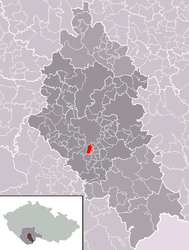 Roudné – Mappa