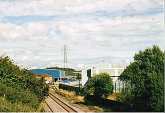 South Staffordshire line - A picture of Round Oak steel terminal in 2005.