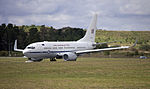 Royal Australian Air Force (A36-002) Boeing 737-7DF BBJ taking off on the main runway at the Canberra Airport.jpg