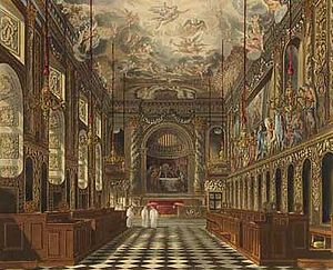 Hugh May - Royal Chapel, Windsor Castle, in 1819