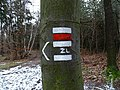 Rozcestí Červená hlína, značky (01).jpg