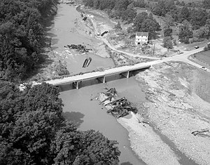 Tye River - Flood damage along the Tye River, in the aftermath of Hurricane Camille