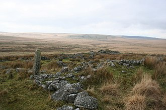 Childe's Tomb - All that remains of Fox Tor Farm
