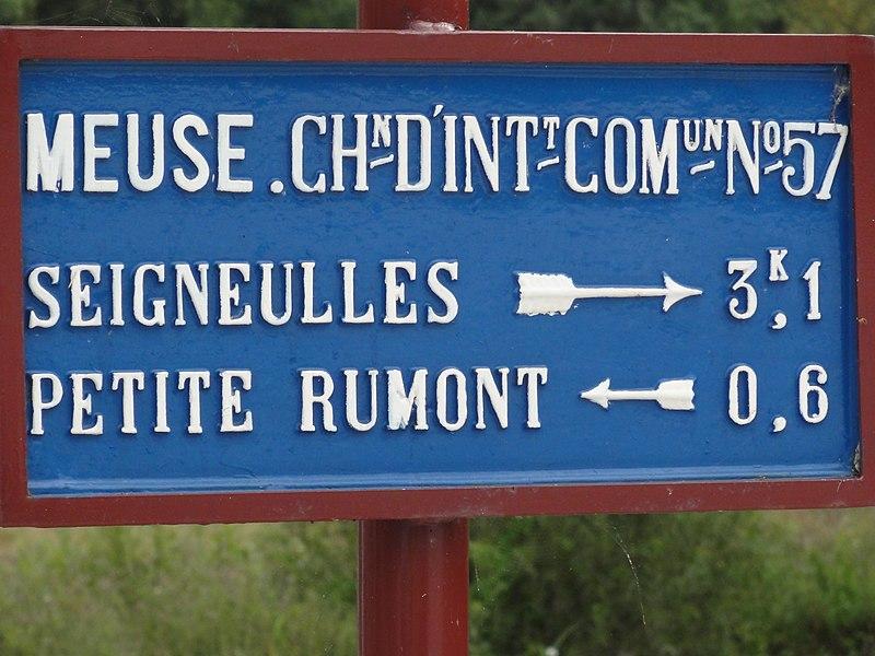 Rumont (Meuse) plaque de cocher