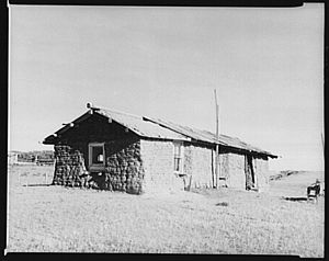 TITLE: Sod house. McKenzie County, North Dakota