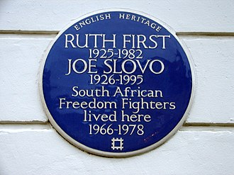 Ruth First - Plaque in Camden Town