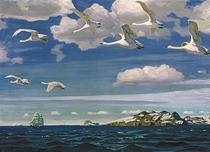 Arkady Rylov - In the Blue Expanse, 1918