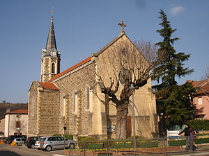 Sérézin-du-Rhône - The church in Sérézin-du-Rhône