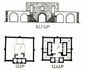 Sanqaçal - Plan of a historic caravanserai in the neighborhood.