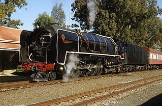 South African Class 25NC 4-8-4 class of 137 South African 4-8-4 locomotives with non-condensing tenders (50 new, 87 rebuilt from Class 25)