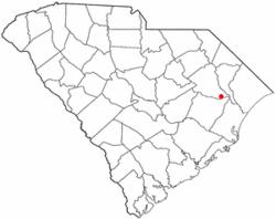 Location of Johnsonville inSouth Carolina
