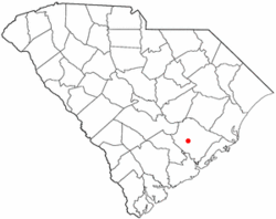 Location of Moncks Corner, South Carolina
