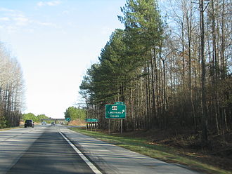 Interstate 385 - Highway 49 exit on I-385, four miles before the road ends at I-26.