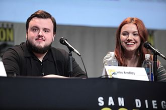 Hannah Murray - Murray (right) and John Bradley (left) at San Diego Comic-Con International to promote Game of Thrones.