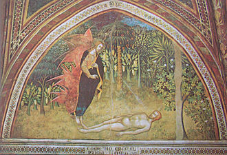 Collegiate Church of San Gimignano - The Creation of Adam by Bartolo di Fredi