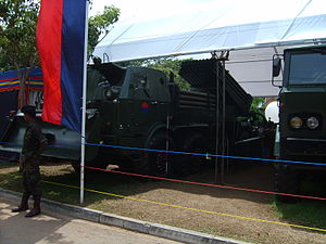 Sri Lanka Artillery - A RM-70 multiple rocket launcher of the Sri Lanka Artillery.