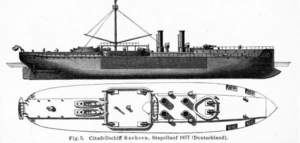 SMS Württemberg (1878) - Illustration of the Sachsen-class ships