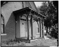 SOUTH ELEVATION, DETAIL OF PORCH - John Reichard House, State Route 92 vicinity, Knoxville, Marion County, IA HABS IOWA,63-KNOX.V,1-3.tif