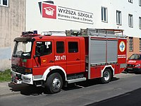 SRp Mercedes-Benz Atego 1328 AF Szczesniak of JRG 1 Łodz during the 2011 National Firefighters Day..jpg