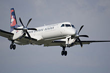 Darwin Airline SAAB 2000 in volo