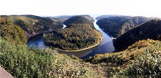 Saar (river) - Saar loop at Mettlach.