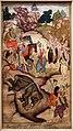 Sadiq, bhima uccide l'elefante asvatthama, india del nord, periodo mogul, 1598.jpg