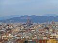 Sagrada Familia Barcelona from Sants - Montjuïc.jpg