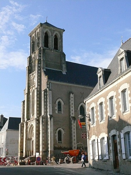 Saint-Clement's church of Saint-Clément-de-la-Place (Maine-et-Loire, Pays de la Loire, France).