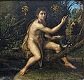 Saint Jean-Baptiste au désert, Raphaël (Louvre INV 606) 01.jpg