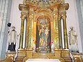 Saint Michael's Church, Saint Joseph's Altar, St. Ignatius of Loyola and St. Francis Xavier statues, 2016 Budapest.jpg