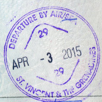 Saint Vincent and the Grenadines tourist exit stamp 2015.png