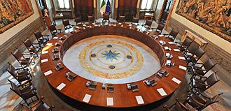 Palazzo Chigi - The meeting room of the Council of Ministers