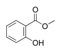 Struktur von Salicylsäuremethylester