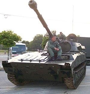 2S1 Gvozdika - Croatian Army 2S1 Gvozdika
