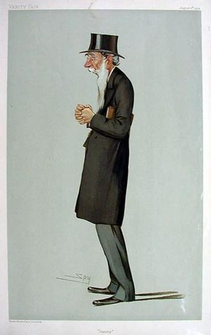 "Samuel Smith (Liberal politician) - ""Sammy"" Smith as caricatured by Spy (Leslie Ward) in Vanity Fair, August 1904"