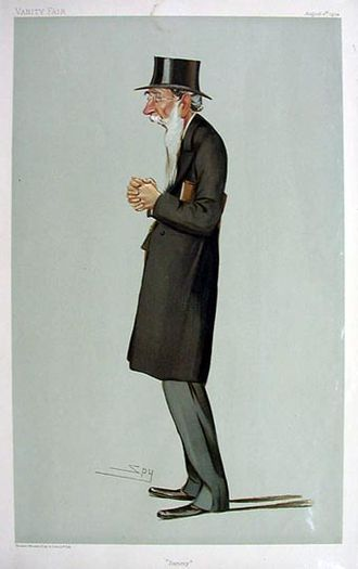 """Samuel Smith (Liberal politician) - """"Sammy"""" Smith as caricatured by Spy (Leslie Ward) in Vanity Fair, August 1904"""