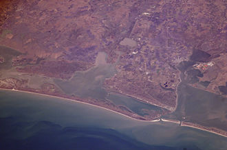 San Antonio Bay - View from the International Space Station