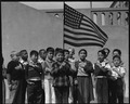 San Francisco, California. Flag of allegiance pledge at Raphael Weill Public School, Geary and Buch . . . - NARA - 537476.tif