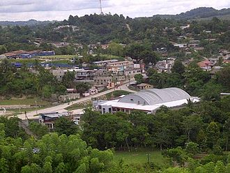 The modern town of San Luis, founded upon the Mopan capital San Luis, Peten.jpg