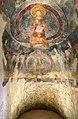 San lorenzo in insula, cripta di epifanio, affreschi di scuola benedettina, 824-842 ca., madonna in trono bendicente e sei angeli con scettro e globo 01.jpg