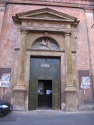 San Martino, Bologna - St Martin lunette on lateral (South) Portal