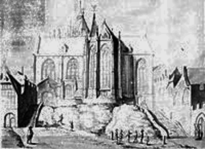 St. Maria ad Gradus - Drawing by Johannes Vinkenboom, 1660.