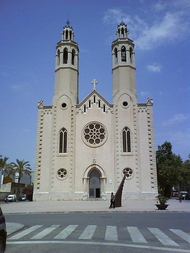 Església Nova. Sant Pere de Ribes. Fotografia: TXO (Wikimedia Commons)