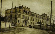 Palazzo Santovetti in una fotografia degli anni dieci.