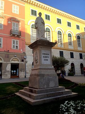Domenico Alberto Azuni - Azuni Square and statue in Sassari
