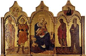Stefano di Giovanni - Sassetta, Madonna col Bambino e quattro santi
